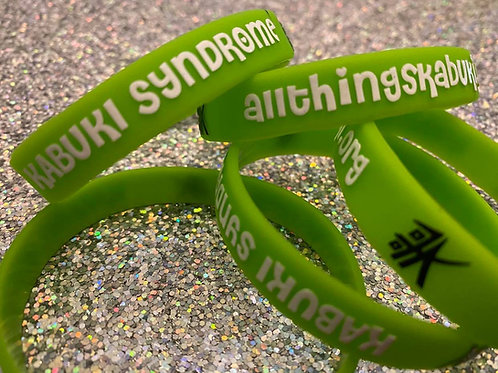 Rubber Bracelets | Embossed Lime