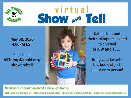Virtual Show & Tell Registration OPEN!