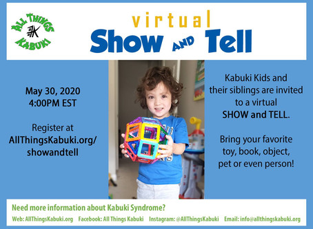 Virtual Show & Tell Registration OPEN!