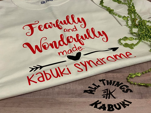 Fearfully Made - White Shirt & Red Font