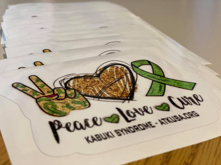 Peace Love Cure Stickers