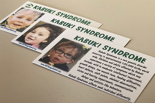 Kabuki Syndrome Awareness Cards