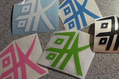 "Kabuki Logo - 2"" Vinyl Decal (3 for $5)"