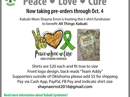 Peace, Love, Cure ... Shirt Fundraiser for ATK!
