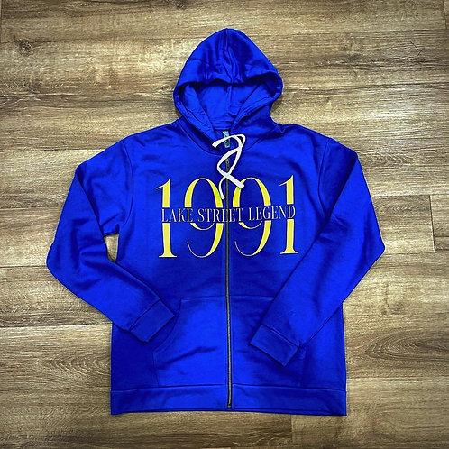 Blue Royalty 👑 1991 zip up hoodie