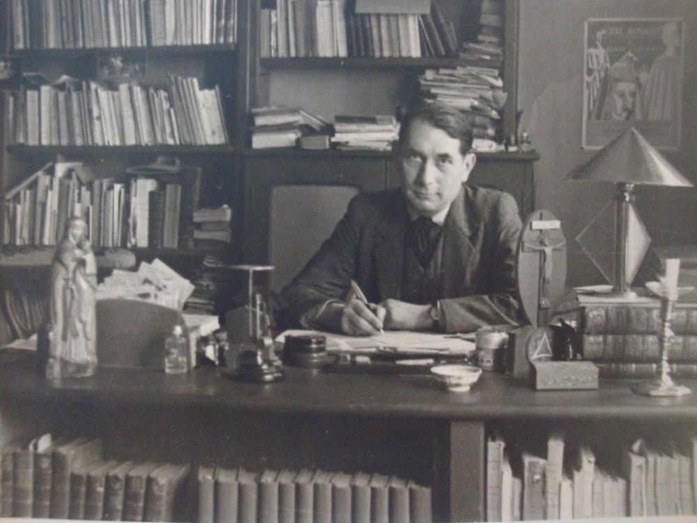 Henri Brochet in his study.