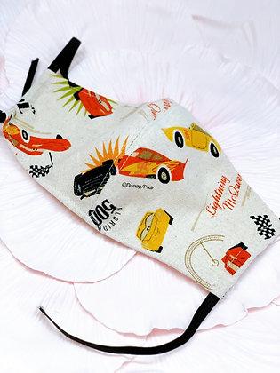 ワイヤー入り国産良質帆布、ホワイトWガーゼ使用マスク
