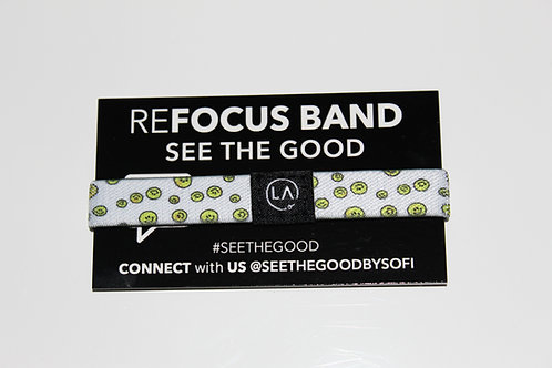 """""""see the good"""" refocus band."""
