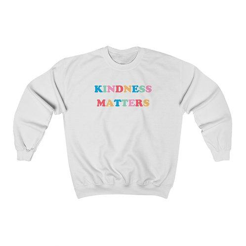 """kindness matters"" crewneck."