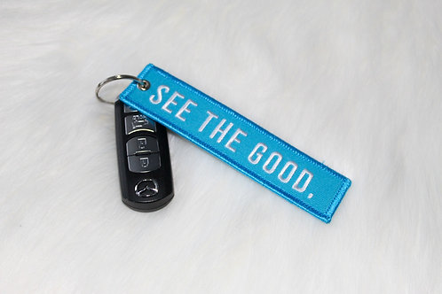 """""""see the good"""" keychain"""
