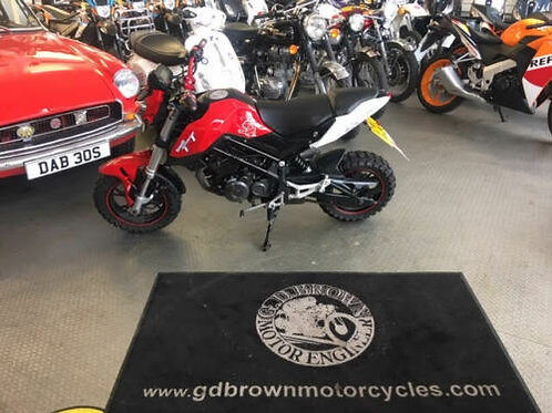 Benelli TNT 125 2017 Only 4800 miles