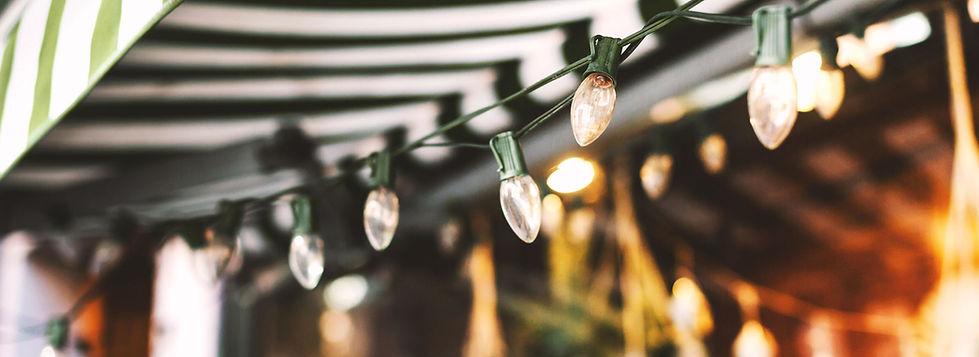 Awning and Christmas Lights