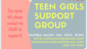 Teen Girls Support Group Flyer