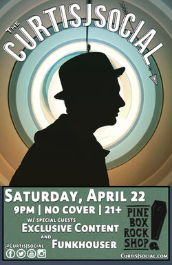 Curtis J the PINEBOX venue poster