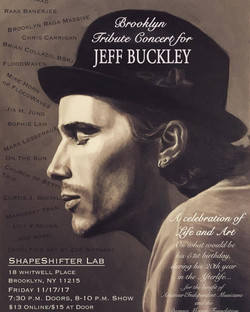 Curtis J _ Jeff Buckley tribute show poster