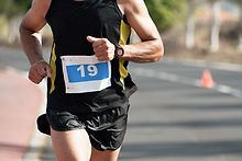 Man Running Race