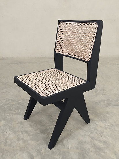 Armless Dining Chair - Black Finish