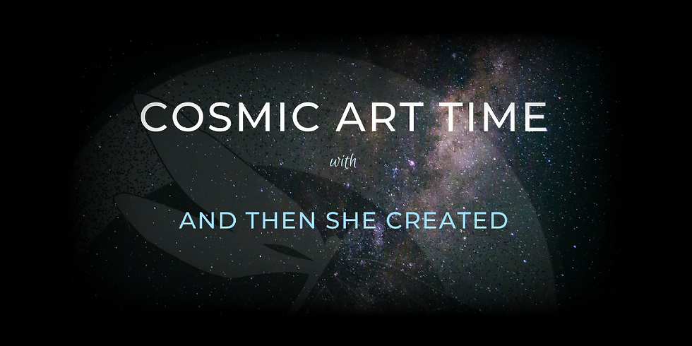 Cosmic Paper Time • With And Then She Created • Full Moon January 2021