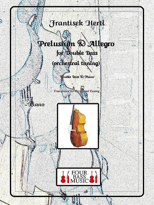 Frantisek Hertl Preludium for Double bass