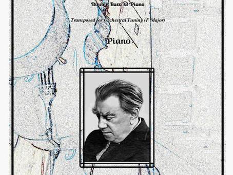 Gliere Scherzo, Double bass & Piano (Orchestral tuning) prined & pdf download