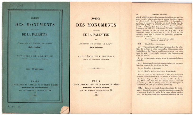 Brochure du Louvre 1874