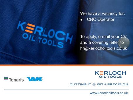 New Vacancy - CNC Operator