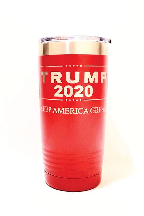 TRUMP 2020 Keep America Great Engraved on 20 oz. Stainless Steel Vacuum Ins