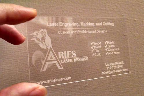 Acrylic Business Cards - 400 Cards