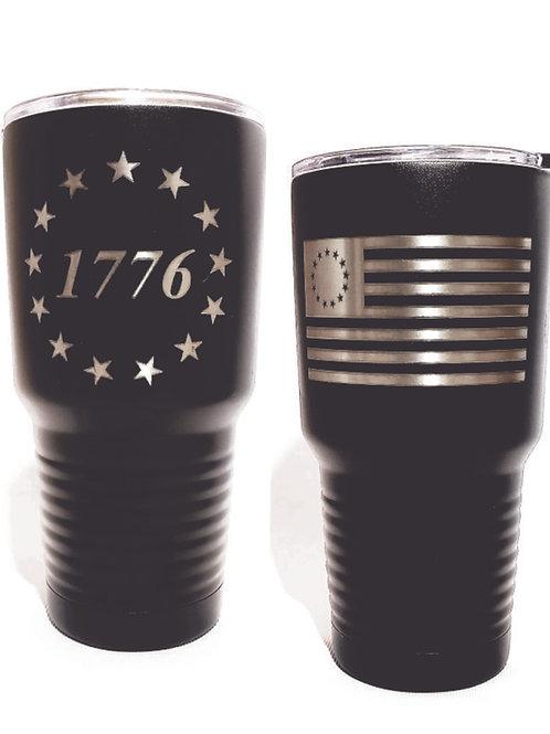 1776 Black 30 Ounce Tumbler
