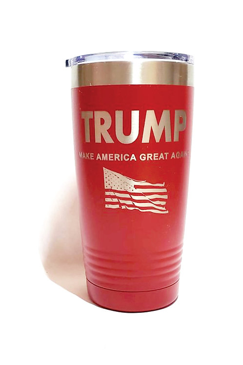 MAGA TRUMP Engraved on Black, Blue, Red or White 20 oz.Tumbler