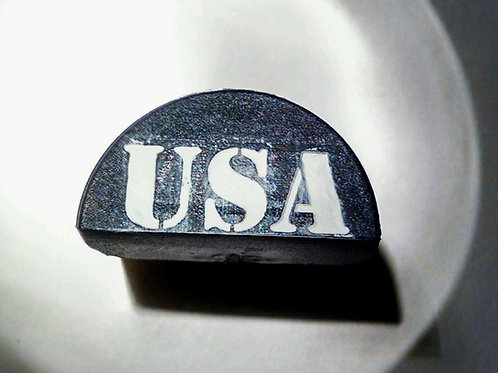 JP2 Slug Plug fits Glock, Engraved with USA White Infill