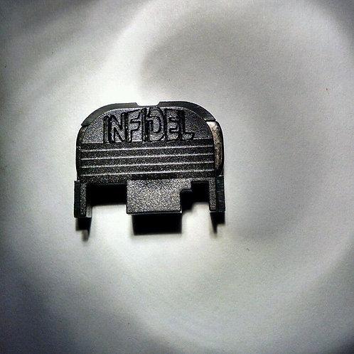 Rear Slide Cover Plate fits Glock INFIDEL Engraved