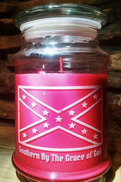 Southern Pride Candle w/ Dixie Flag & Lyrics