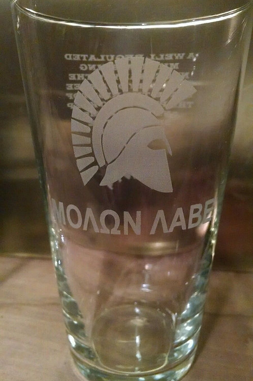 Two Molon Labe/Second Amendment Engraved Glasses