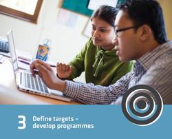 3 - define targets - devolop programmes