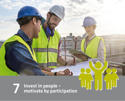 7 - invest in people - motivate by participation
