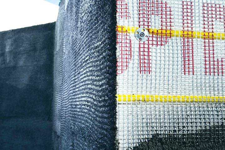Spiderlath attachment using Grip-Deck Lath & Plaster Washers