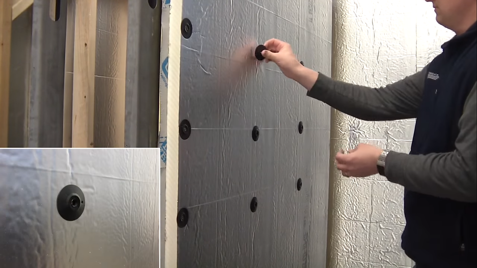 Carlisle Install using fasteners from TRUFAST Walls