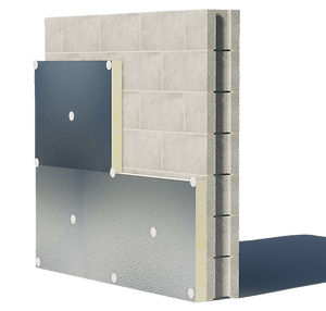 Continuous Rigid insulation attachment to Concrete, Masonry Block Substrate. Foundation Weatherproofing.