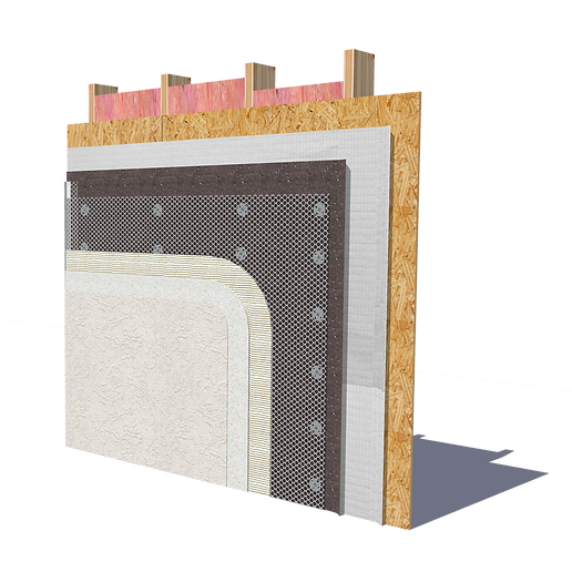Polyiso Attached directly to steel studs using Rodenhouse Fasteners