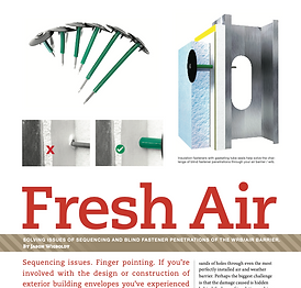 Fresh Air: Solving Issues of Sequencing and Blind Fastener Penetrations of the WRB / Air Barrier