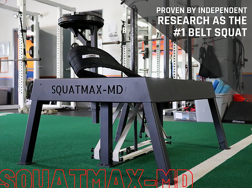 Squatmax Platform with narrow stance riser and overlay includes freight shipping