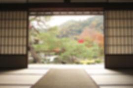 Mit Blick auf Meditation Garden