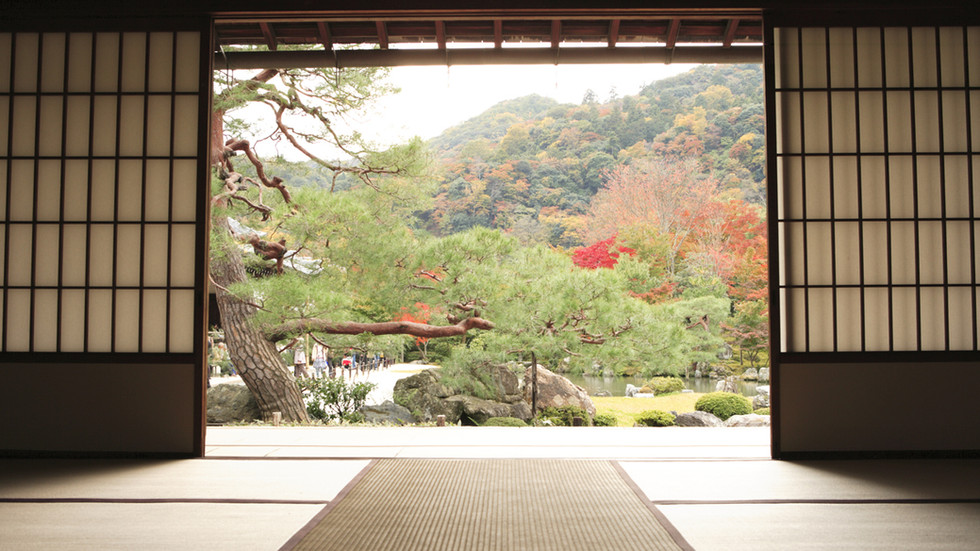 Vista del giardino di meditazione