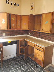 Kitchen before renovation started