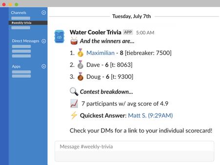 Water Cooler Trivia 🚰