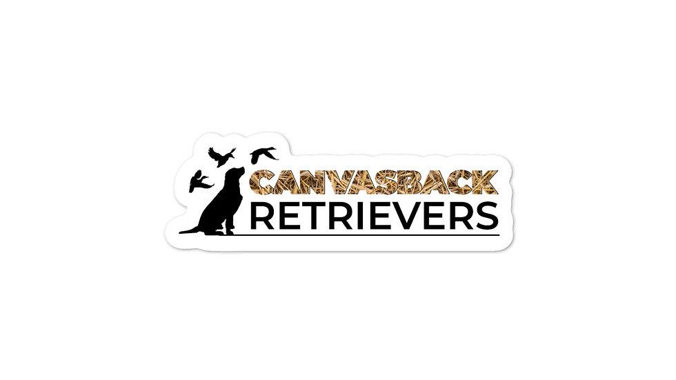 Canvasback Retrievers Logo Sticker