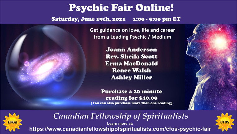 Psychic Fair June 19th 2021