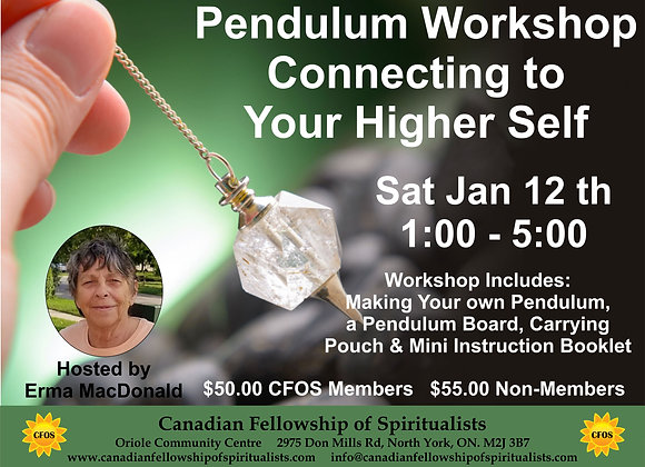 Pendulum Workshop Jan 12, 2019