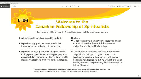 Wed April 15th Online Gathering